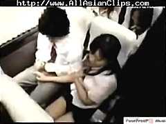 bus, teen, handjob,