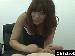 MILF hits dick really hard during cbt...