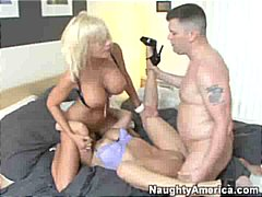 cumshot, blonde, boobs, blowjob,