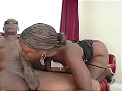 oral, ebony, creampie, fishnet, blowjob
