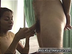 Small tits asian babe fucks a raging ...