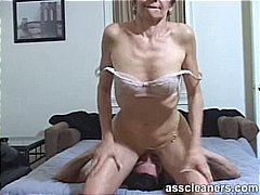 Young boy is hungry over an oldie mis...