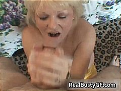 Nasty mom shows her juggs and sucks c...