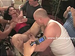 Mobsters interview slut ripping her h...