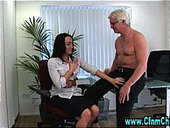 Cfnm office babe gets hot