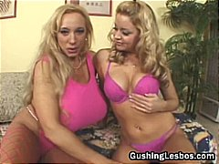 Mature lesbo slut gets...