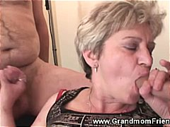 older, threesome, grandma, mature