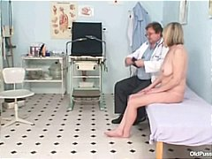 lady, pussy, bizarre, milf, older, mom, kinky, granny, mature, uniform, speculum