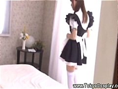 Horny asians uses dild... video
