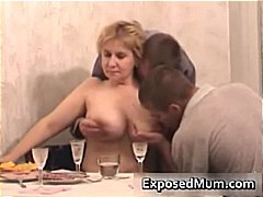 mom, group sex, threesome, mature