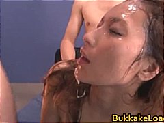 cumshot, asian, interracial,