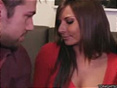Busty Madison Ivy gets naked and lets this guy fuck her hard