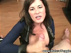 Hot milf wants the cock all over her