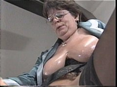 Mature granny Lena sucks on his hard ...
