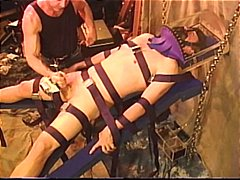 Intense CBT sounding electro bondage ...