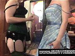Crossdresser shows his...