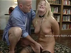 Dr Tuber - Amazing busty blonde with round ass vandalized in brutal extreme threesome anal sex