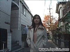Asian babe is a voyeur...