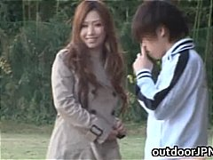 Ai Sayama Japanese babe has outdoor sex part1