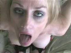 MILF Melanie is a real pro at sucking cocks and munching jism