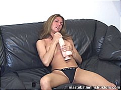 See: Rubbing a huge dildo b...