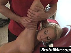 Blonde Briana Blair gets a nice massage from a horny stud