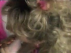 Vintage lesbian sex show from April Rayne and her charming kitty friend