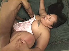 Black man puts it on chubby mature sl...