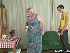 Huge granny is banged ... video