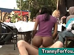 DrTuber Movie:Black tranny sucks dick while ...