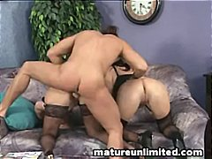 Two babes gang up on o...