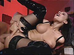 Sex in black Thigh boots