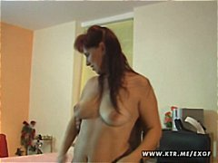 Busty amateur wife toying sucking and...