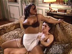 Thumb: Ebony French maid anal