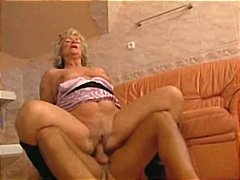 Hot Horny Blonde Granny Suck and Fuck