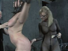 Old BDSM Masters Whipping of Chained ...