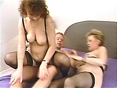 Two Moms On One Cock