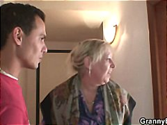 Naughty granny takes f... video
