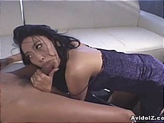 Sexy Asian in black dr... video