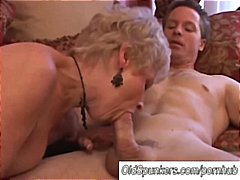 Gorgeous cougar sucks cock... - 08:15