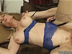 Nina Hartley in lingerie has great sex