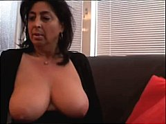 Mature with big naturals teases in he...