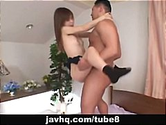 cute japanese teen enjoys her first c...