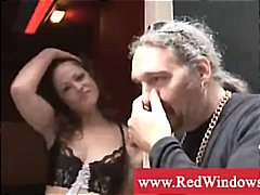 Dutch whore with pierced tongue gives bj