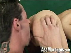 amber rayne,  licking, ass, brunette,