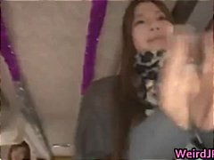 Crazy asian girls have hot bus tour 1 part5