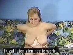 German Cow Milking Her Big Tits