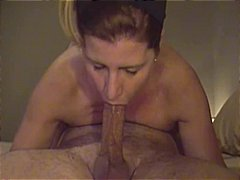 brunette, swallow, blowjob, gagging,