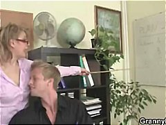 Thumb: Mature office boss for...