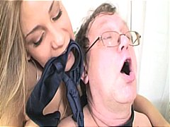 Big tits horny young bitch gets ramme...